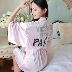 Victoria's Secret satin Rhinestone robe